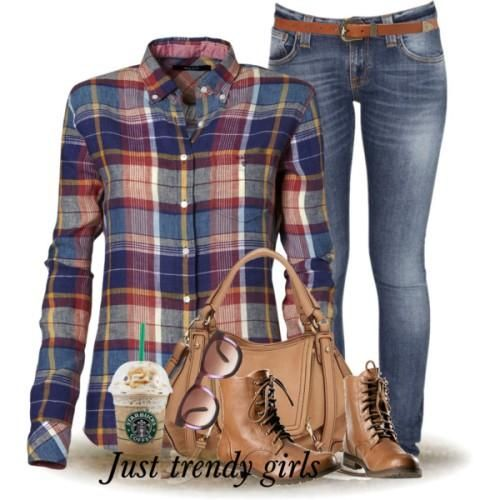 fall checked shirt outfit Fashion Plaid Shirts for woman http://www.justtrendygirls.com/fashion-plaid-shirts-for-woman/
