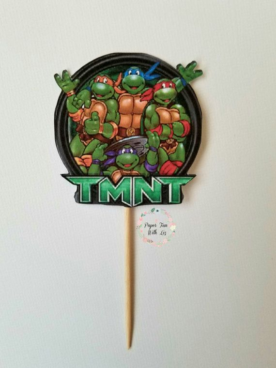 Check out this item in my Etsy shop https://www.etsy.com/listing/477384945/nija-turtles-nija-turtle-cupcake-toppers