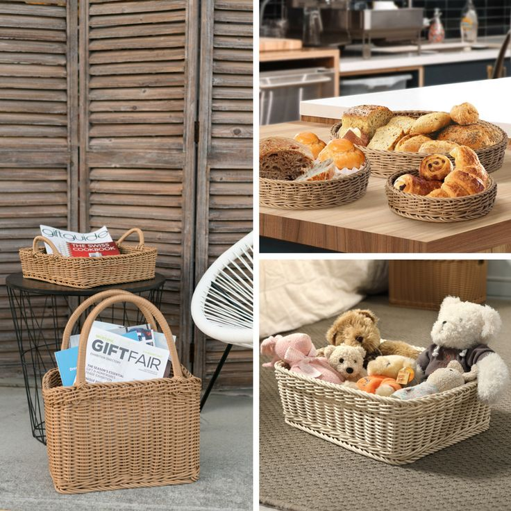Hand-woven baskets for any and all storage purposes.