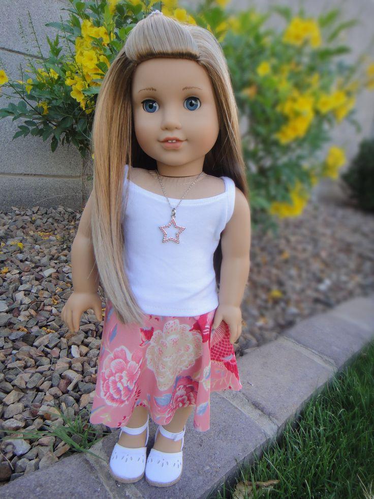 No Sew Circle Skirt for American Girl Dolls | Free Sewing Pattern for American Girl Dolls