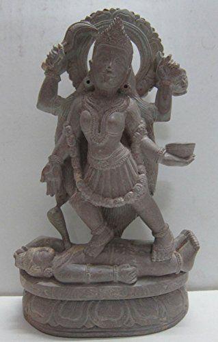 "Odishabazaar 8"" Goddess Kali Mata Statue - Stone Statue From Odisha Odishabazaar http://www.amazon.com/dp/B00WEO00EG/ref=cm_sw_r_pi_dp_Vaa5wb0TMYWTR"
