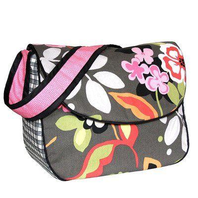 Sleek Slate Personalized Messenger Diaper Bag