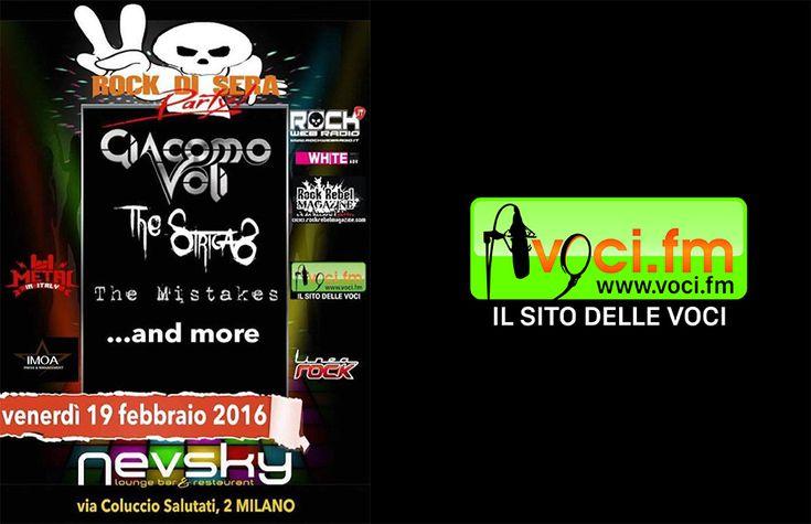 VOCI.FM - Rock di Sera Party 2 http://www.voci.fm/news/eventi/214-rock-di-sera-party.html