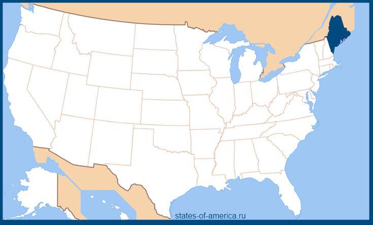Штат Мэн на карте США