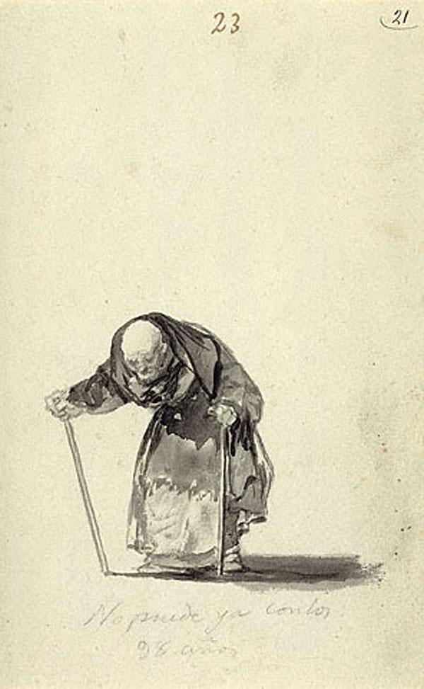 """""""He Can No Longer..."""" by Francisco de Goya"""