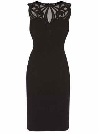 Sheer Mesh Applique Pencil Dress,  Dress, sheer mesh dress  applique dress  pencil, Chic