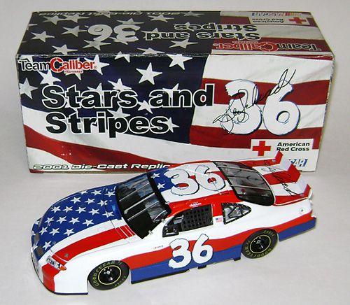 Ken Schrader 36 Car   2001 Ken Schrader #36 M's / Stars and Stripes Diecast - Autographed