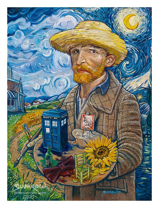 Vincent Van Who Doctor Who & Van Gogh limited by JohnSumrow