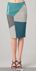 Rag and Bone Slash Patchwork Skirt