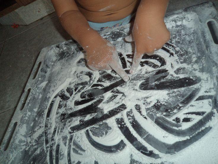 baby powder drawing