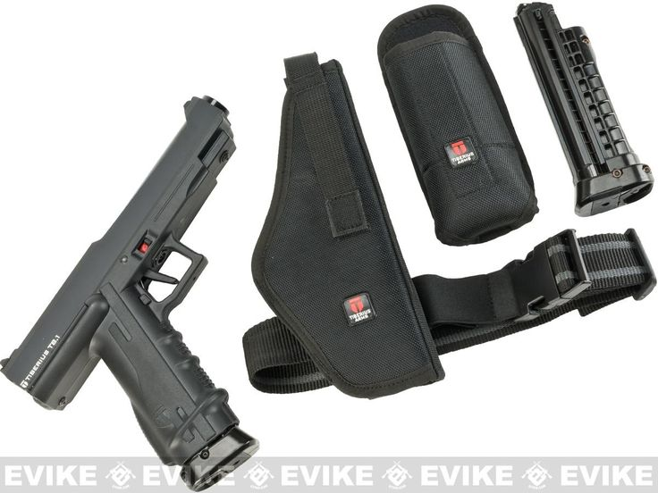 Tiberius Arms T8.1 .68 Magfed Paintball Marker Pistol Player Pack - Black $260.00