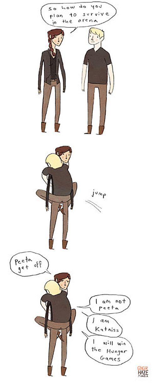 "Giggle-Inducing ""Hunger Games"" Parody Comics. How do you plan to win the Hunger Games, Peeta?"""