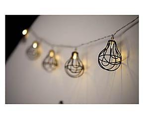 Fila di luci a forma di lampadine in vetro - 15x7 cm
