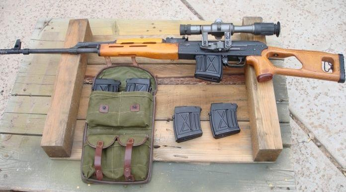 """""""The PSL"""" is a Romanian 7.62x54r military designated marksman rifle. It is also called PSL-54C, Romak III, FPK, FPK Dragunov and SSG-97 (scharfschutzengewehr - 1997). Though similar in appearance to the SVD Dragunov, the PSL rifle is actually based on the RPK light machine gun."""