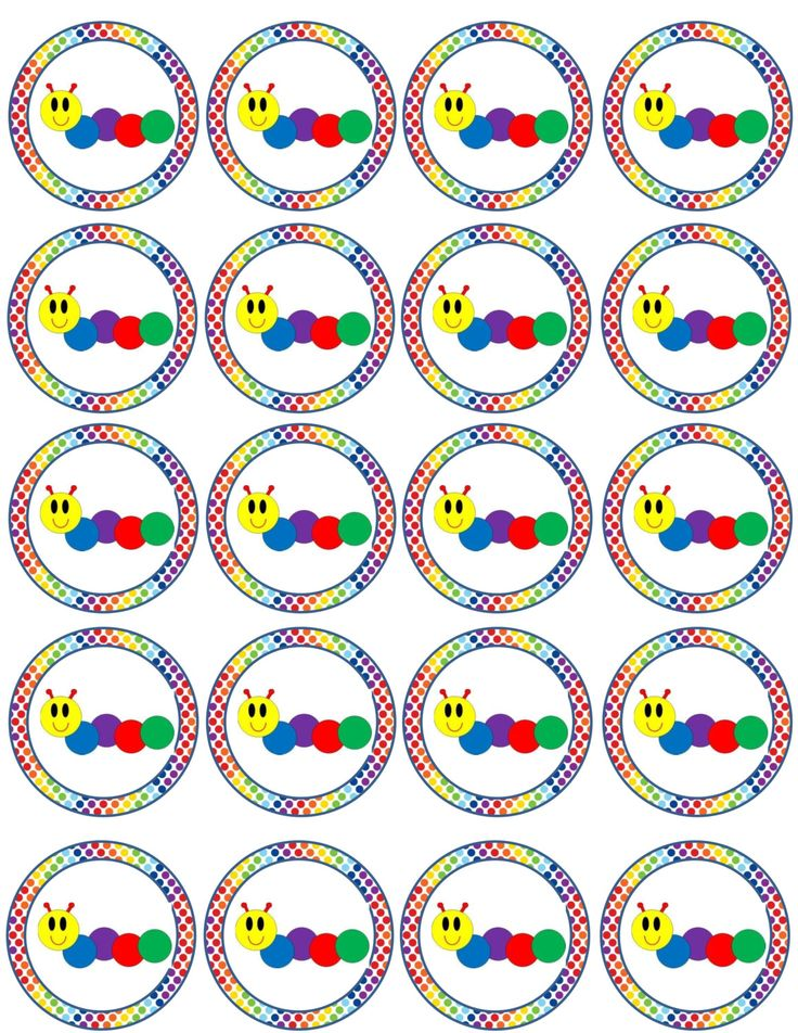 Baby Einstein Caterpillar Cupcake Toppers / Party Tags INSTANT DOWNLOAD Printable by padicakesparty on Etsy