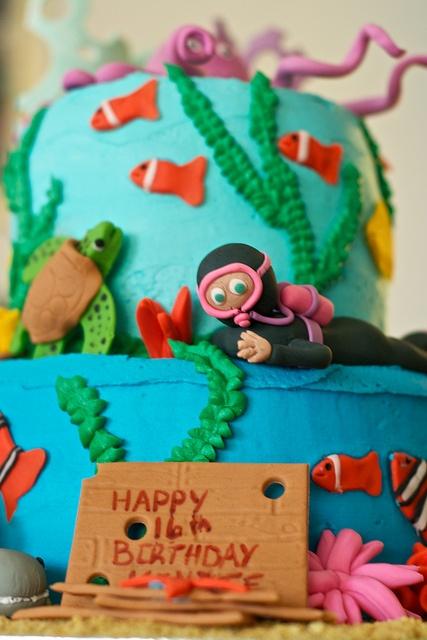Diver cake for Kenzie