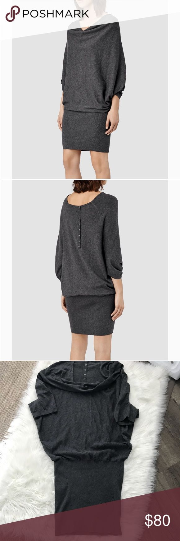 ✔️ NWT All Saints Elgar Gray Sweater Dress - Sz 10 Gorgeous NWT All Saints Elgar Sweater Dress. Size 10. This dress is stunning but unfortunately does not fit me 😭.  100% Cotton and oh so luxurious. ✔️ Lowball offers will be declined and blocked. ✔️ No trades. Thank you. NOTE:  ✅The price tag is no longer attached. The tag shown in pics will be the only tag attached✅ All Saints Dresses