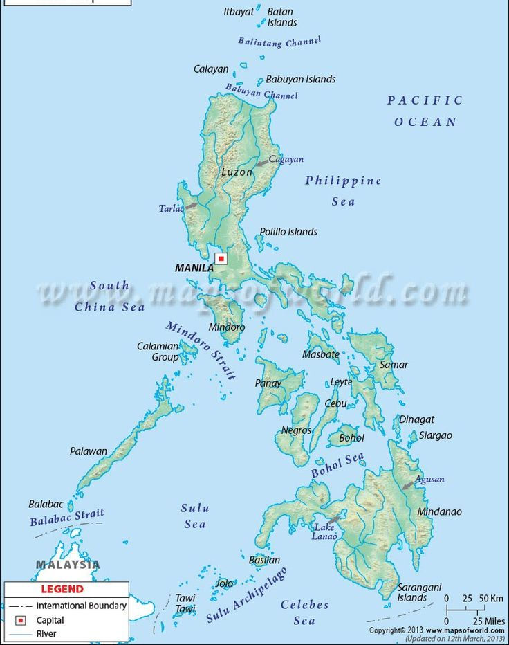 philippines river map