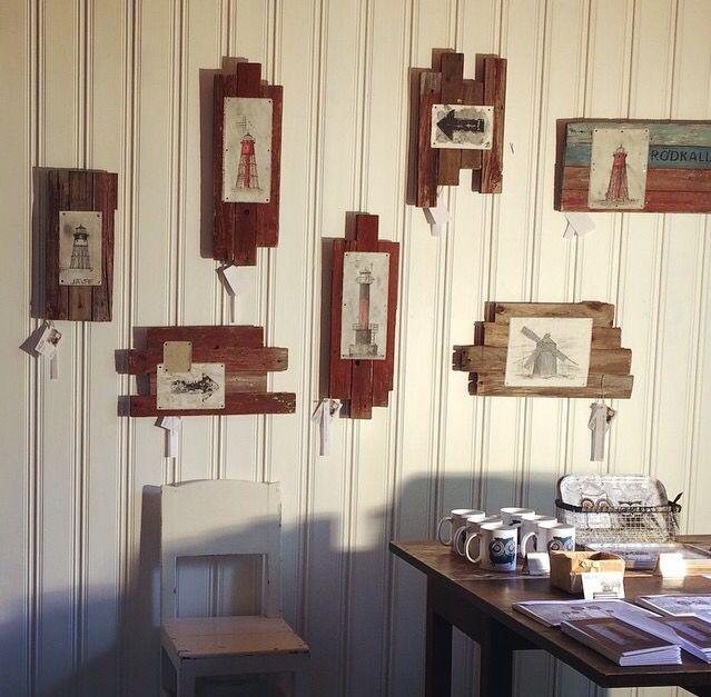 Utställning av Maria Wiberg tackor på Junkön