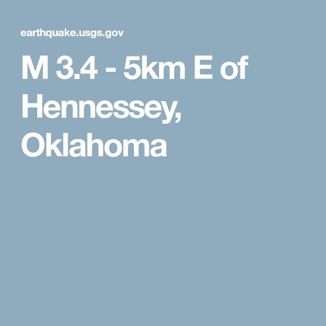 M 3.4 - 5km E of Hennessey, Oklahoma