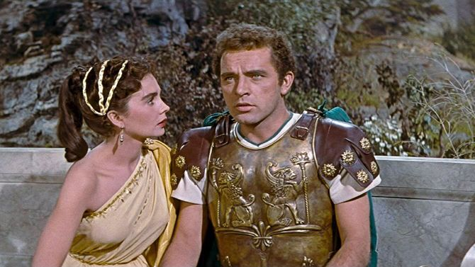 """Szata""- Jean Simmons, Richard Burton - 1953.-tunique_30060_4ea655c12c058837cb008ab7_1320202721.jpg (670×377)"