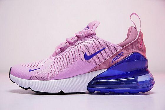 9343bcc6bf8 Original Nike Air Max 270 Pink Purple White Ah8050 540 Sport Running Sneaker