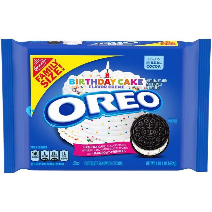Oreo birthday cake family size 17oz in 2020 oreo