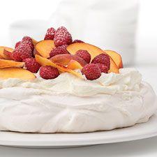 Peach Melba Pavlova : King Arthur Flour