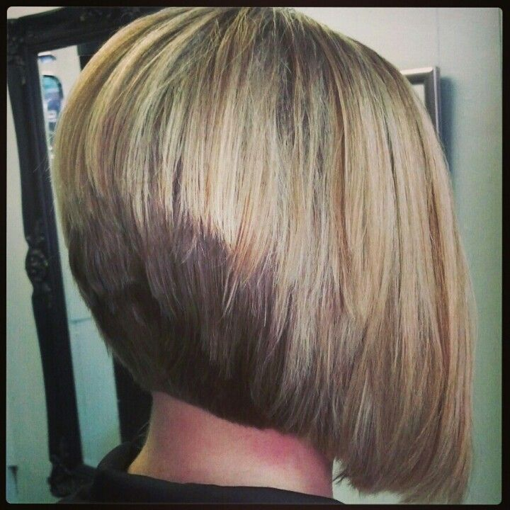 Stacked Bob And Blonde Highlights Done By Janeen At Bella