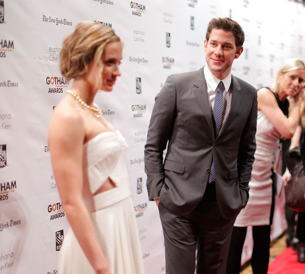 The sweet look on his face looking at her :) Emily Blunt and John Krasinski - 22nd Annual Gotham Independent Film Awards
