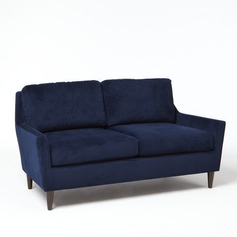 Everett Upholstered Loveseat from west elm #colorcrush