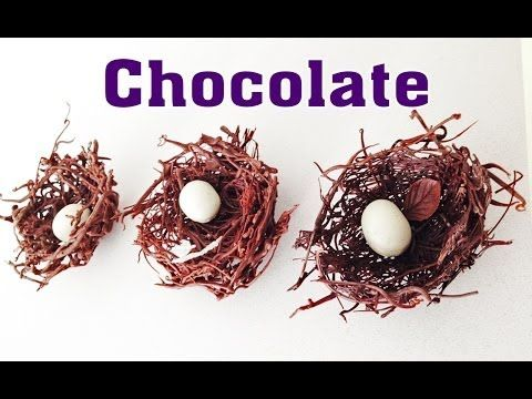 Chocolate Nest chocolate decoration HOW TO COOK THAT Ann Reardon - YouTube
