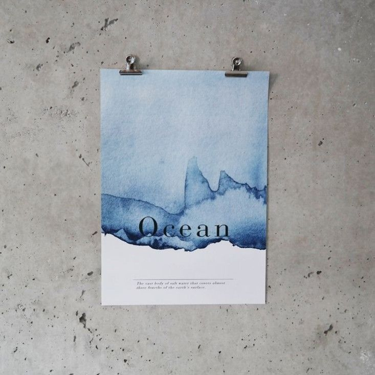 Inspo from our friends! Ocean Poster