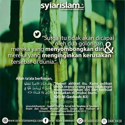 ga masuk islam bagi yang sombong