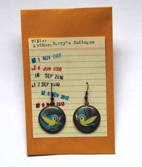 Bluebird Earrings snow white birds Disney by HarrysSuitcase