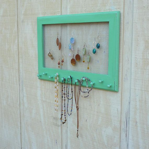 Cottage Chic Distressed Jewelry Organizer by oakstudiosofdesign, $37.00