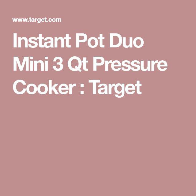 Instant Pot Duo Mini 3 Qt Pressure Cooker : Target