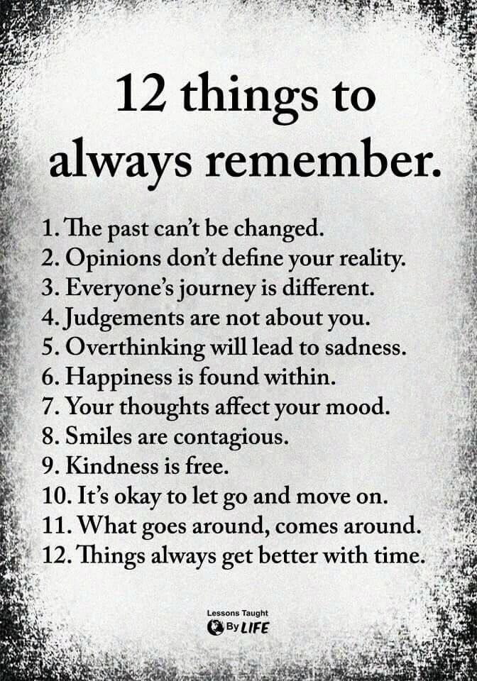 12 Things To Always Remember Wisdom quotes, Words, Life