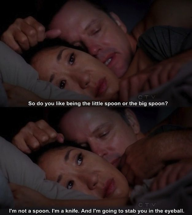 Even when it's awkward. | 27 Reasons Why Cristina Yang Is Everything You Aspire To In Life