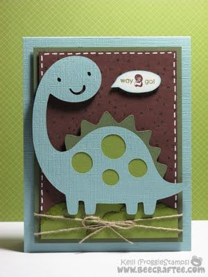 Create a Critter Dino.. Love brown and blue