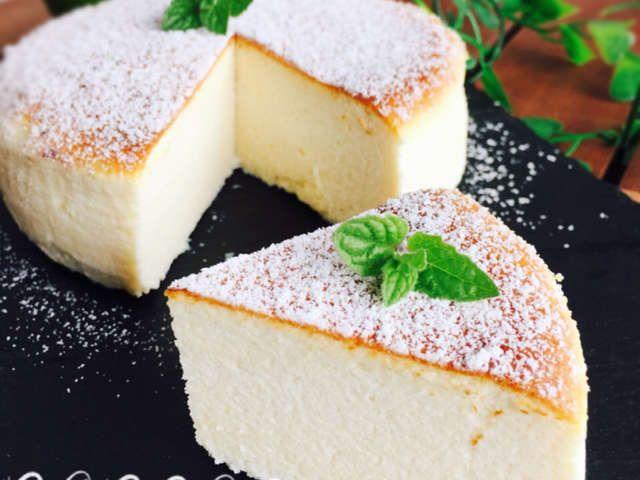 水切りヨーグルトでスフレチーズケーキ風 By なんなんわーるど レシピ レシピ 水切りヨーグルト レシピ スイーツ レシピ