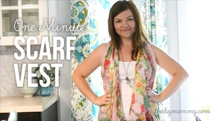 Make a Drapey Kimono Vest from a Scarf (Video) | The DIY Mommy