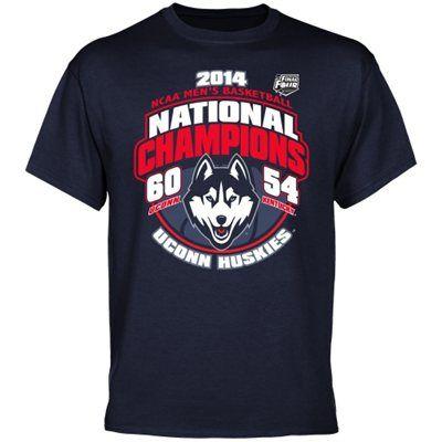 UConn Huskies 2014 NCAA Men's Basketball National Champions Hoop Score T-Shirt – Navy Blue