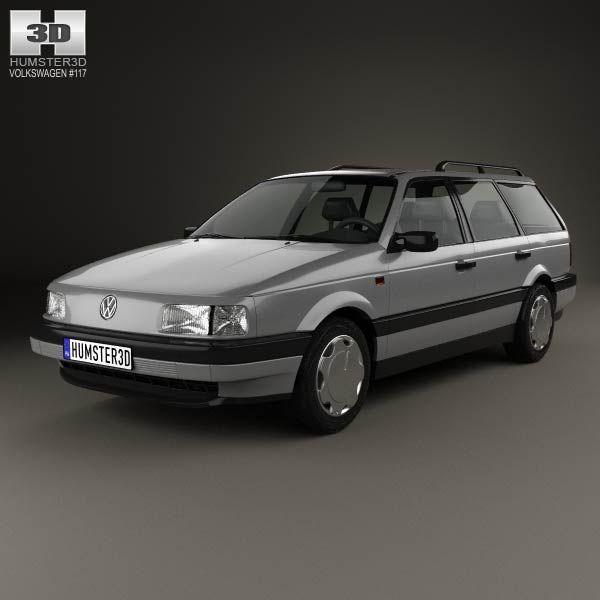 Volkswagen Passat (B3) variant 1988 3d model from humster3d.com. Price: $75
