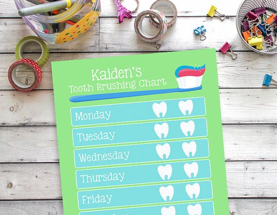 Keep track of your little ones tooth brushing with this personalized Tooth Brushing reward chart. Simply edit the PDF to
