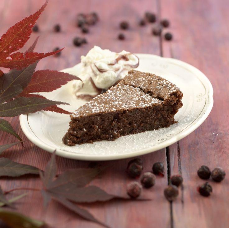 Sjokoladekake med solbær: I denne oppskriften er det brukt malte mandler som mel. Derfor er denne kaken både fantastisk god og egner seg ypperlig for de som har melallergi. ...