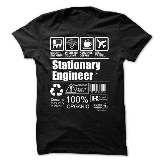 Stationary Engineer - #cute tee #tshirt no sew. CHECKOUT => https://www.sunfrog.com/LifeStyle/Stationary-Engineer-58096035-Guys.html?68278