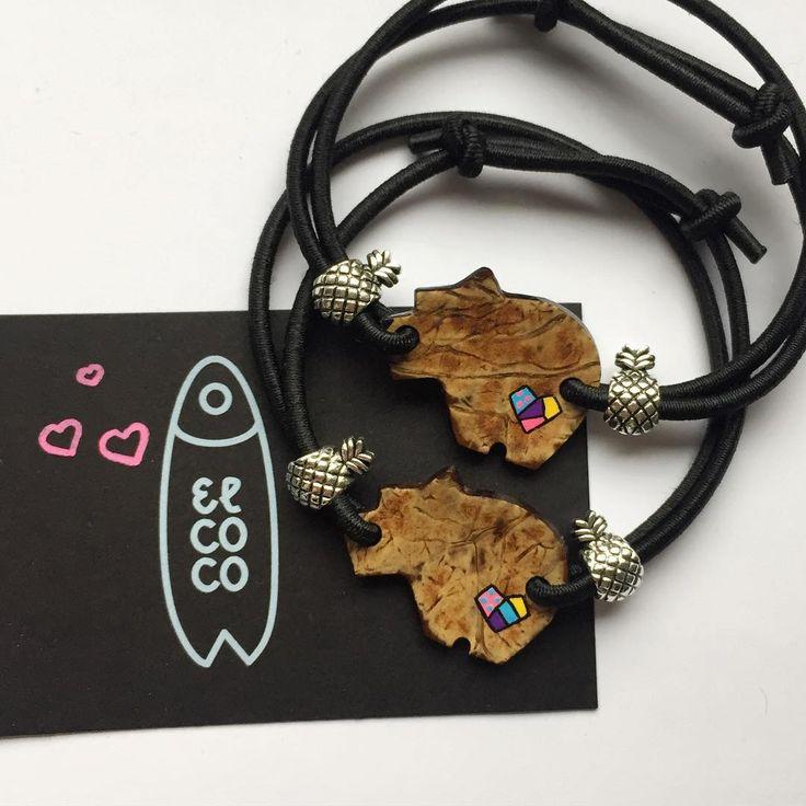 Here are two natural coconut Bearson bracelets with custom hearts for special people we love. 🌴🌴Wyjątkowa bizuteria surferska od #elcocopoland ręcznie wycinania ze skorupy kokosa.  #handmadejewelry#surf#surfart#moodygrams#dziendobry#jewelrygram#jewelrydesign#artistsofinstagram#artist#tropical#украшенияручнойработы#кокос#coconut#vscogood#instamood#fashionblogger#longboard#creativityfound#diy#gift#present#warszawa#bracelets#pulseras#crafts#couple#love#heart#mothersday