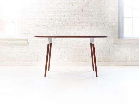 Modern Walnut Oval Dining Table by Wake the Tree Furniture Co. | Bcurated