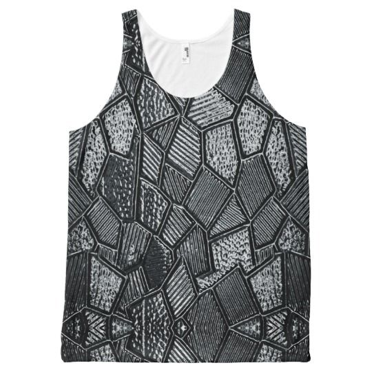 Dark Grey Mosaic Glass Tank Top